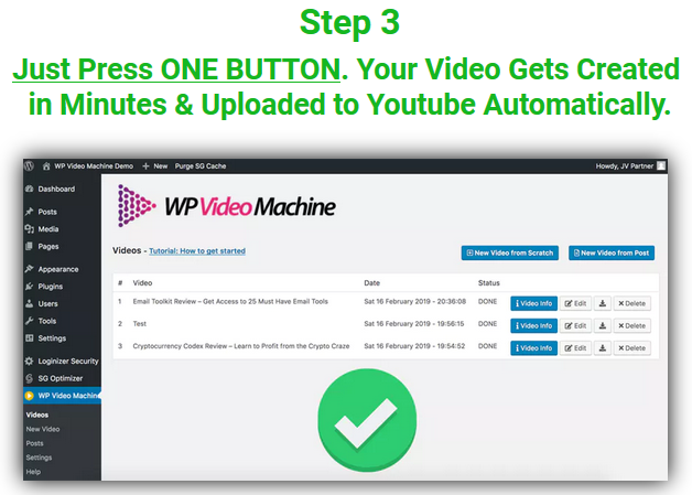 WP VIdeo Machine Review - step3
