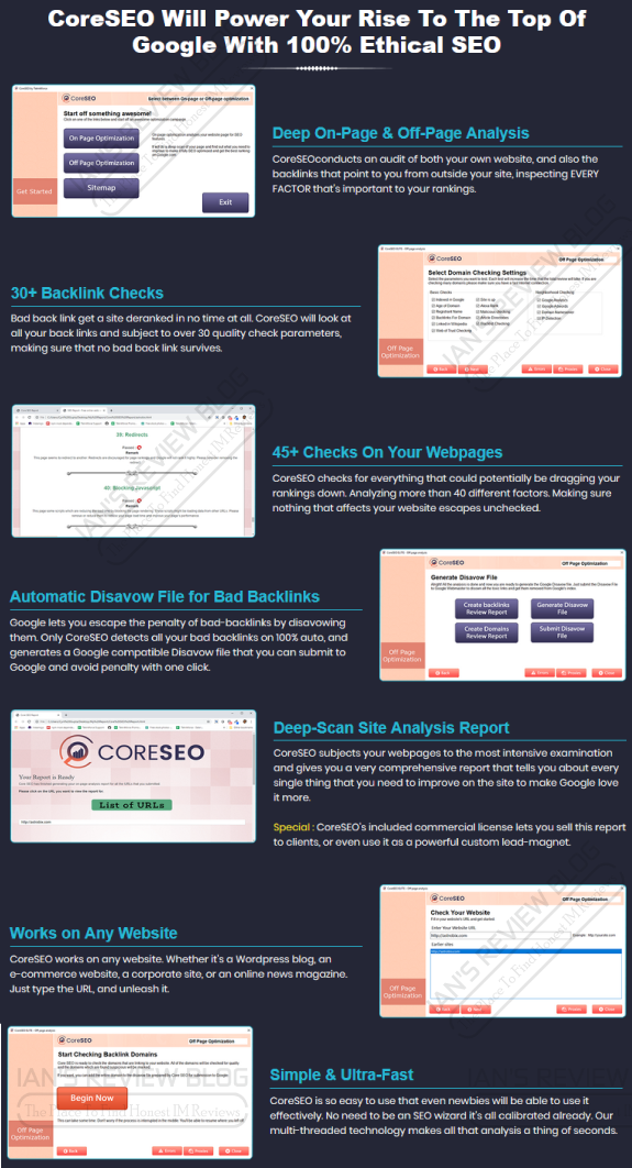 CoreSEO Review - Features