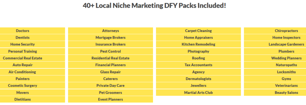 Consultants Pack Review - 40+DFY Local marketing Websites