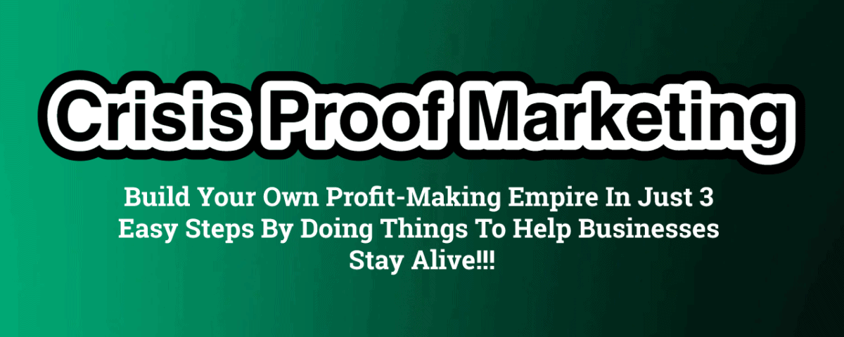 Crisis Proof Marketing Review