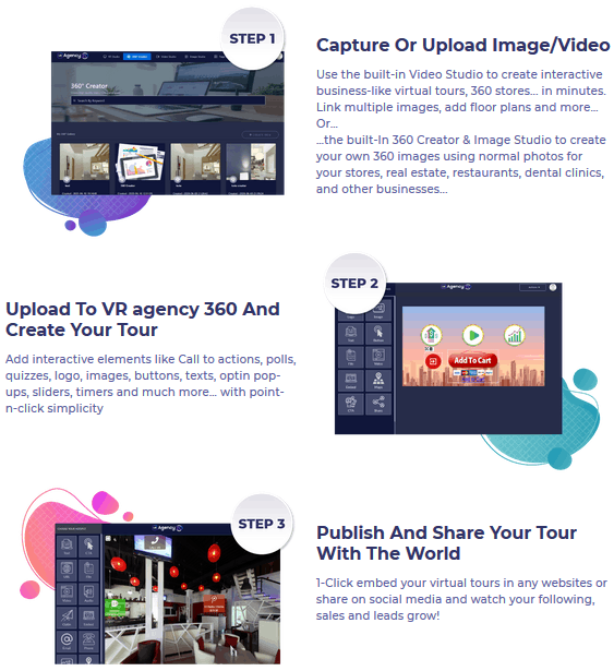 VR Agency 360 Review - Steps