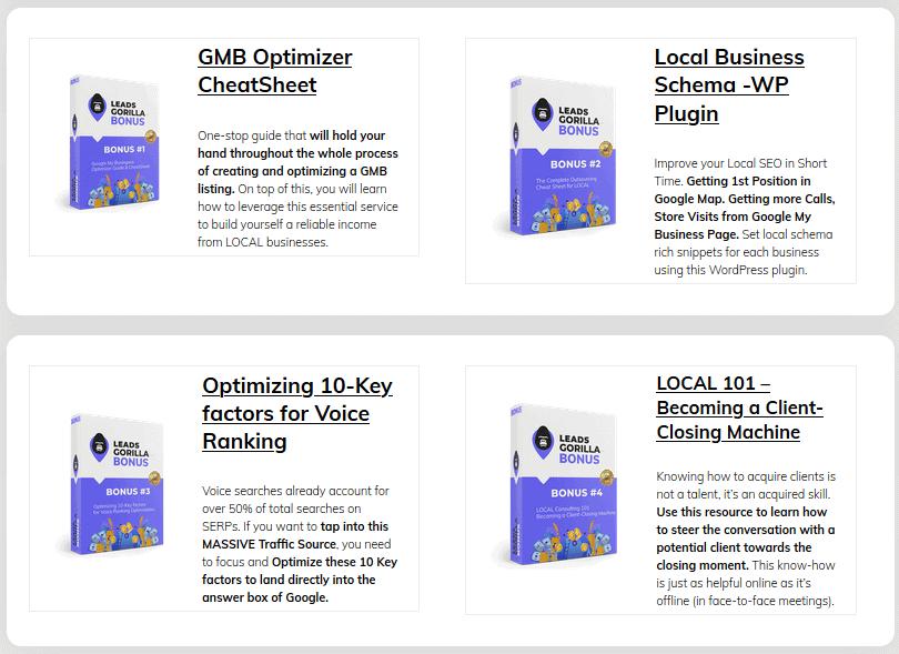 LeadsGorilla Review - Bonuses (2)