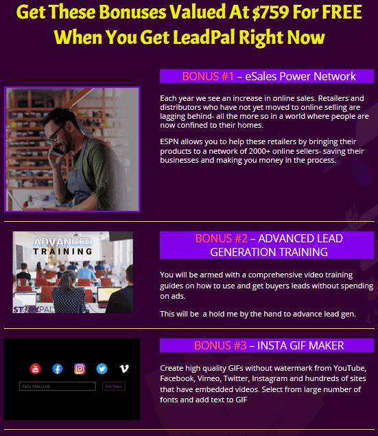 LeadsPal Review -Bonuses