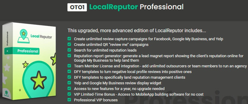 LocalReputor Review - Funnel OTO1