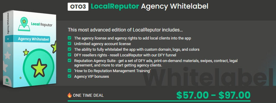 LocalReputor Review - Funnel OTO3