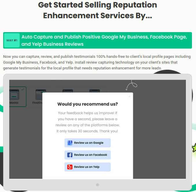 LocalReputor Review - Sell Services1
